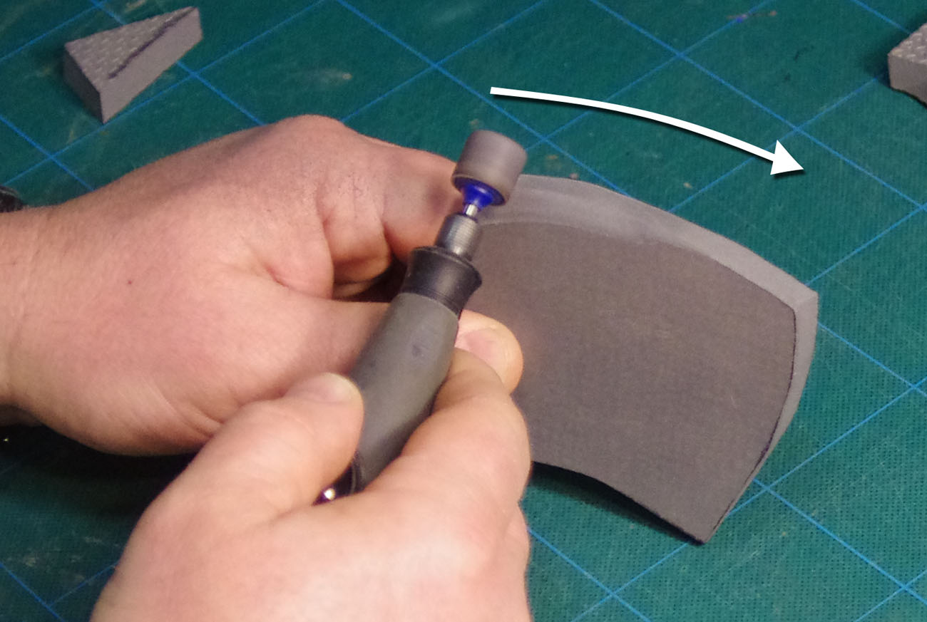 Cutting and Shaping the Foam